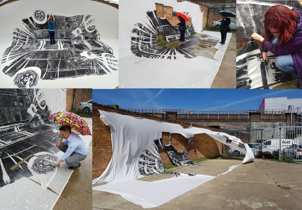 JPRICE_2019_No market value_viewers cutting up large car print_interactive performance